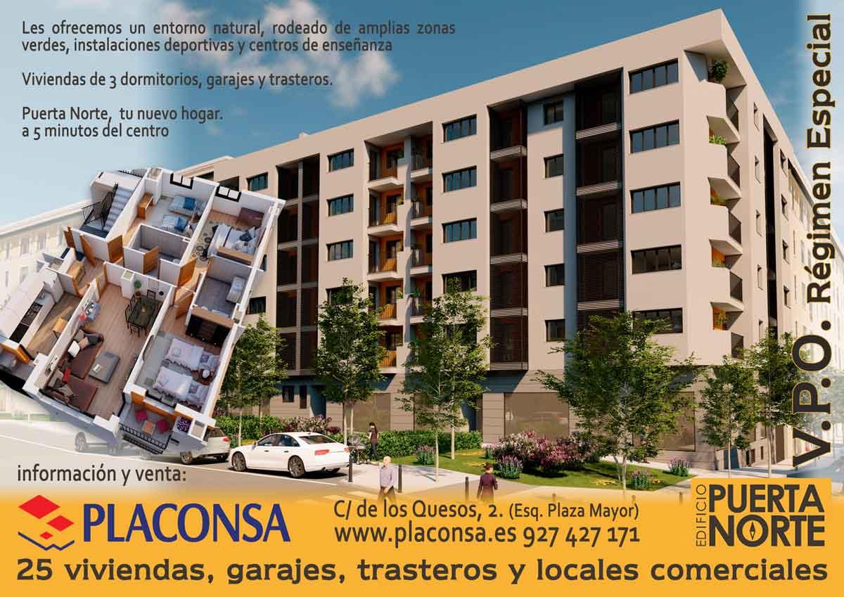 Promoción Puerta Norte 25 viviendas vpo Plasencia